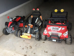 5 power wheels ride on toys $399