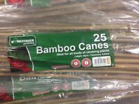 9 packs of bamboo canes (60cm long, 6-8mm thick 25 per pack)