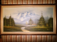 Oil Painting - Mountain Summer Scene