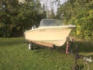 15 foot Motor boat and trailer