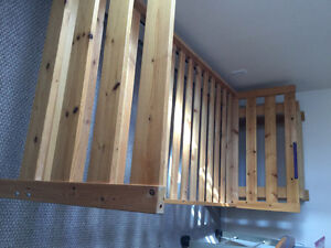 Bunk bed frames from ikea with all accessories