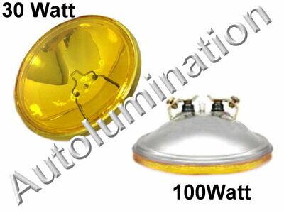 4416-A Amber 12 Volt Par36 Sealed Beam Bulb 4416ST AMBER Spotlight 4-1/2 4416A Beam 12 Volt Spotlight