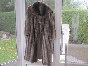 Manteau de chat-sauvage argenté grandeur 12 ans
