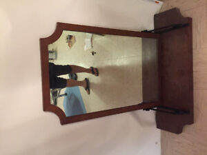 Mirror and wooden ledge for sale by owner!