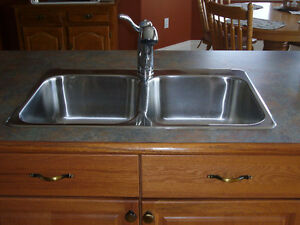 COUNTER TOPS AND SINK AND FAUCET