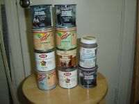 STAINS, PAINTS, CLEARCOATS FOR SMALL PROJECTS-MOVING SALE