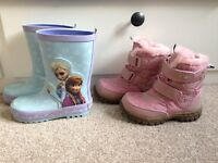 Girls boots and wellies, size 7