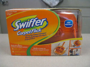 Swiffer Carpet Flick Carpet Sweeper w/ 4 Cleaning Cartridges