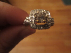 10K Yellow Gold 2/3 CT Genuine Diamond Engagement Ring Size 7