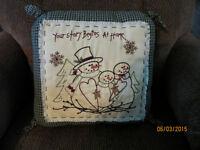 SNOWMEN Accent Pillow