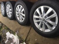 T5 T6 VW highline wheels like new great tyres 225 65 16