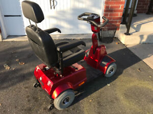 Fortress Mobility Scooter 4 wheel like new red