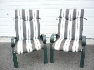 Patio chairs (2) and cushions