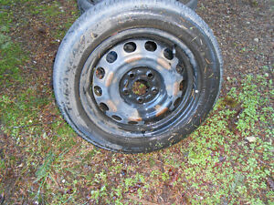 4 tires with steel rims Campbell River Comox Valley Area image 2