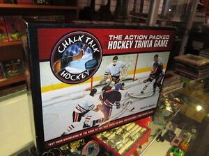 Chalk Tak The Action Packed Hockey Trivia Board Game