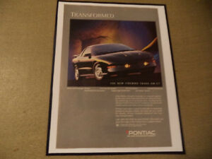 OLD FIREBIRD CLASSIC CAR FRAMED AD Windsor Region Ontario image 4