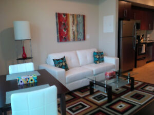 Executive Furnished Downtown 1 Bedroom + Den  Financial & Union