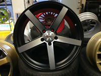 "NEW!!! MATTE BLACK/MACHINED 20"" rims/TIRES!! BMW MERCEDES ACURA"