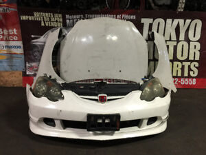 JDM ACURA RSX DC5 TYPE-R FRONT END NOSE CUT HID BLACK HOUSING
