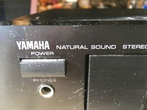Yamaha natural sound stereo double cassette deck   KX-W162