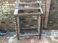 Old Industrial Wooden Printers Tray Unit/Work Desk - Can Deliver
