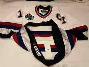 "Mark Messier 1997-98 Vancouver Canucks ""All-Star Patch"" CCM Size Edmonton Edmonton Area image 5"