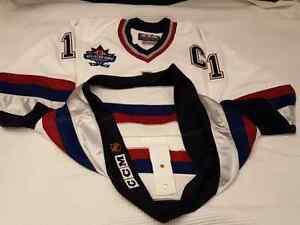 "Mark Messier 1997-98 Vancouver Canucks ""All-Star Patch"" CCM Size Edmonton Edmonton Area image 5"