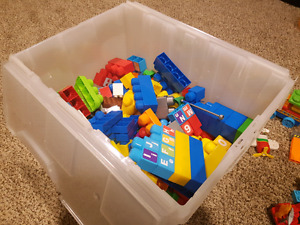Big Bin of Duplo and Mega Bloks