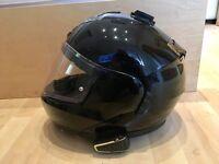 Scorpion Exo 900 Air Flip-Up Crash Helmet and Scala Rider Q3 Bluetooth Headset