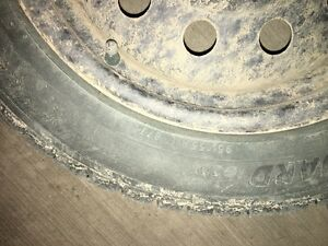 2 winter tires with rims - 195-55-R16 Regina Regina Area image 3