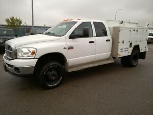 2009 Dodge Ram 3500 Quad Cab Dually with Full Service Body