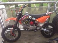 M2r 160cc Pitbike, Big wheel. Not crf, not kx, not yz, not 140cc, not 125cc