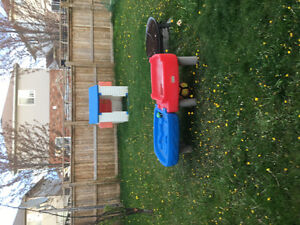 House, car, water table kids