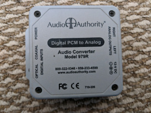 Digital pcm to analog audio converter