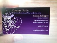 Experienced hairstylist, providing affordable, quality service