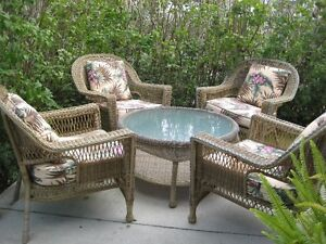 Resin Patio Furniture with Cushions Sarnia Sarnia Area image 1