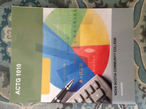 NSCC Office Administration Textbook. Accounting 1010 ACTG