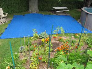 Filet de protection contre les feuilles pour piscine creusée
