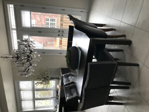 4 Gorgeous Model Home Dining chairs with studs