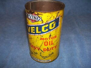 Irving Velco Motor Oil one quart Tin Can
