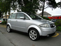 AUDI A2 1.6 FSI 2004 SE COMPLETE WITH M.O.T HPI CLEAR INC WARRANTY