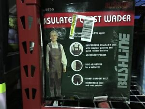 BUSHLINE INSULATED WADERS NEW IN BOX  ( MODEL 6655 ) SIZE 10