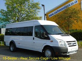 2009 / 58 Ford Transit T430 15 Seat Minibus [ M2 ] Low Mileage PSV/d +Tachograph