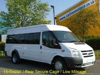 2009 / 58 Ford Transit T430 15s Minibus xLwb Jumbo Low Mileage Tachograph