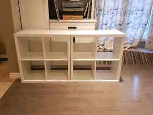 Ikea KALLAX shelves × 2 white