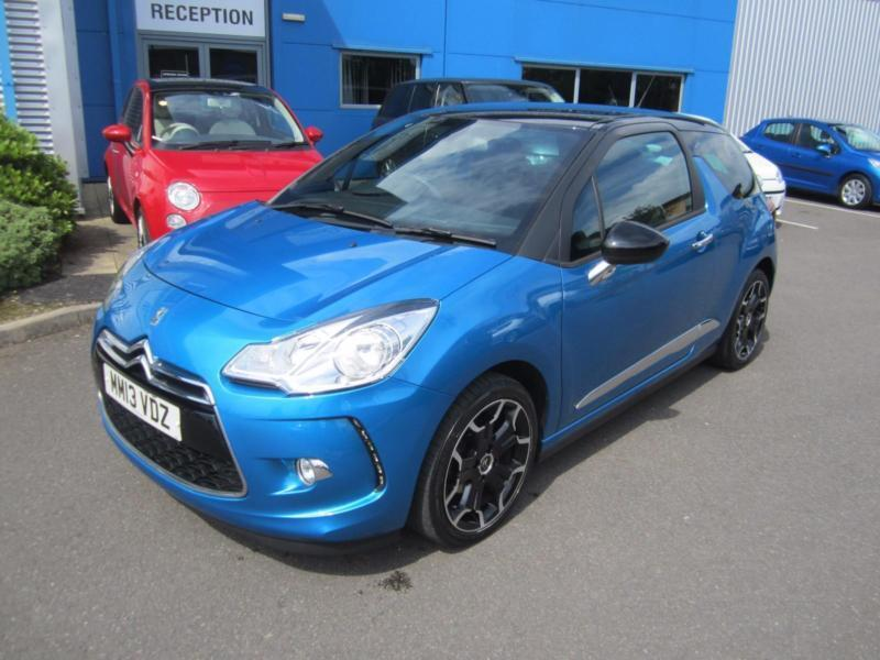 citroen ds3 1 6 vti 120bhp dstyle plus botticelli blue 1 owner full service in shrewsbury. Black Bedroom Furniture Sets. Home Design Ideas