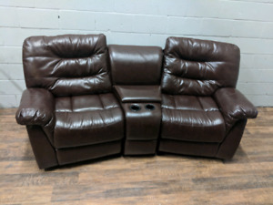 Recliner faux leather sofa. FREE DELIVERY