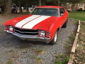 1971 CHEVELLE SS -CLONE- VERY CLEAN!!