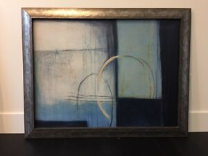 Framed painting - abstract art
