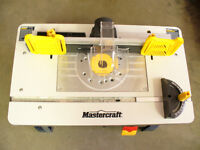 ROUTER TABLE - MASTERCRAFT-LIKE NEW